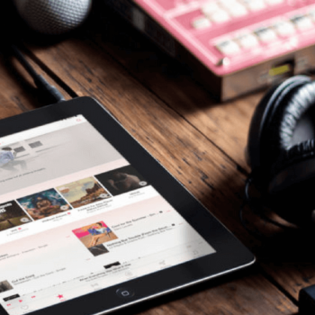 iPad zeigt apple music app