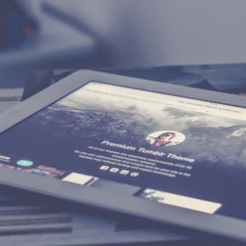 iPad zeigt Tumblr App