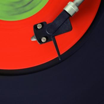 Ausschnitt einer Schallplatte